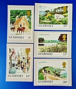 Set of 5 PHQ Stamp Postcards Guernsey Set No.5 1985 Definitive Issue OC8