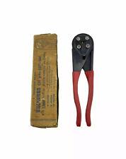 Nos Vintage Buchanan C24 Electrical Wire Crimper Pliers Press Sure Tool Usa