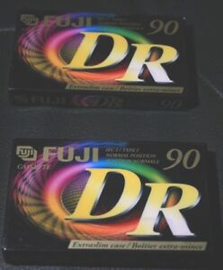 Fuji-DR-90-x-2-Blank-Cassettes-Factory-Sealed