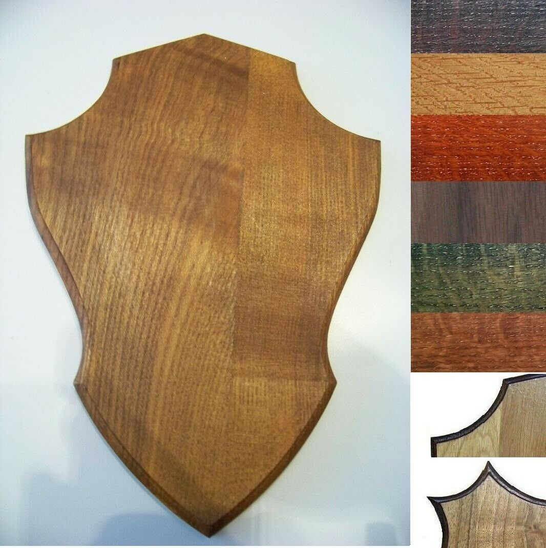 Wooden base shield taxidermy trophy Mounting Plaque OAK  WALNUT 1BC