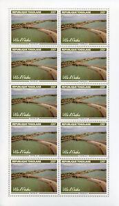 Togo-2017-MNH-Aneho-Town-10v-M-S-Bridges-Architecture-Tourism-Landscapes-Stamps