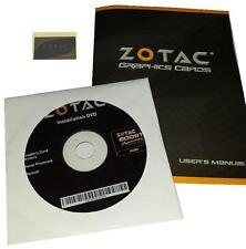 ORIGINALE Zotac GeForce gtx560ti schede grafiche driver DVD Boost manuale Sticker