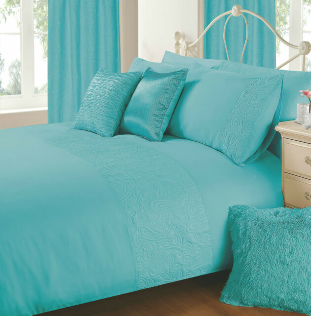 Embossed Duvet Cover with Pillowcase Quilt Cover Bedding Set Single Double King