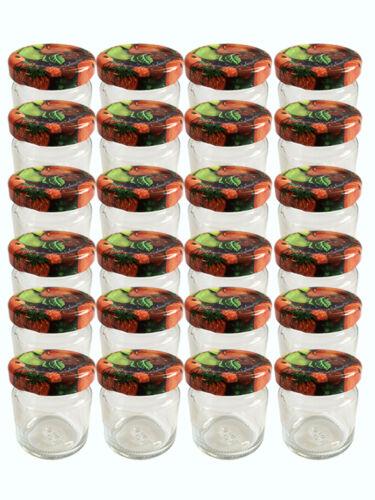 24 mini chute verres 53 ML pots de confiture bocaux einweckgläser fruits