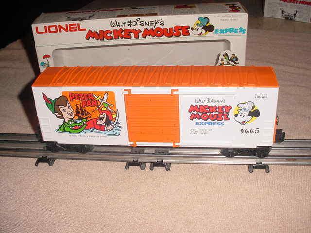 LIONEL BOX CAR W.D. M.M.  EXPRESS-PETER PAN   0-027 ga.