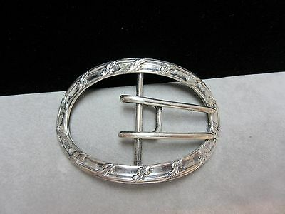 Antique Victorian William B. Kerr & Co.  Sterling Silver Belt Buckle Sash Clip
