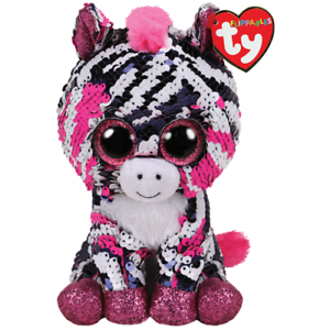 """2019 TY Flippables 6/"""" ZOEY Zebra Beanie Boo Color Changing Sequin Plush MWMTs"""