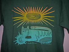 Vintage 80s The Sun Cat T Shirt Green L