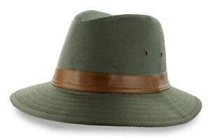 e48aa5f5 Safari Cotton Olive Hat M L XL UPF 50 Wide Brim Fishing Hunting Sun ...