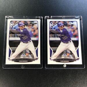 NOLAN ARENADO 2013 BOWMAN #41 ROOKIE RC (2 CARD LOT) COLORADO ROCKIES MLB