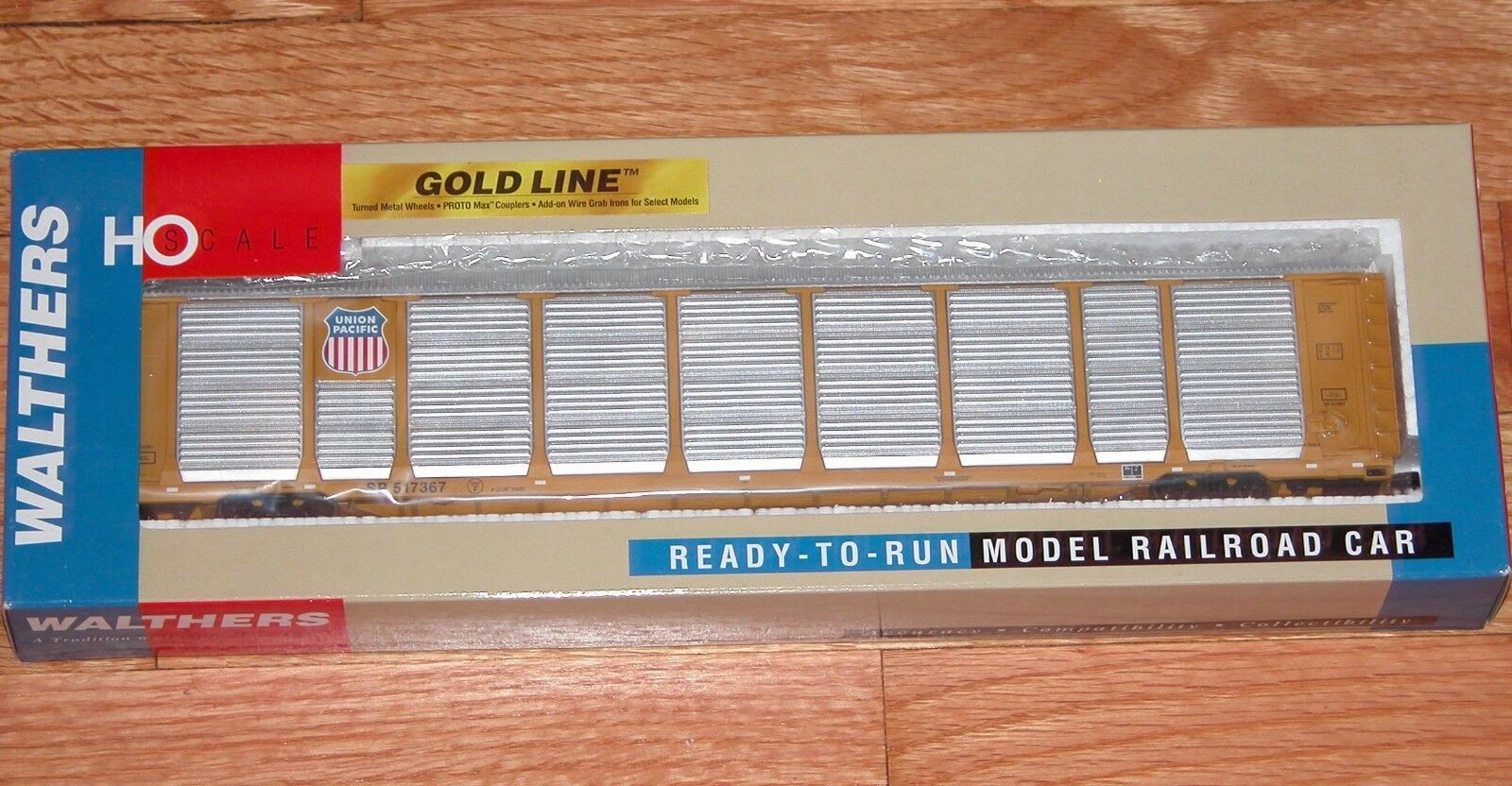 WALTHERS 932-4878 oro LINE THRALL 89 TRI-LEVEL AUTO CARRIER UNION PACIFIC UP SP