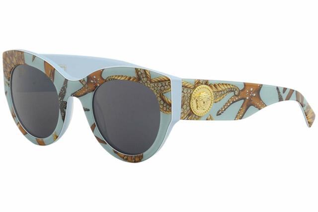 00a7ba2e65e0e Versace 4353 Sunglasses 528487 Light Blue 100 Authentic for sale ...