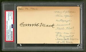 Connie-Mack-Signed-Government-Postcard-PSA-DNA-Certified-Authentic-Autograph