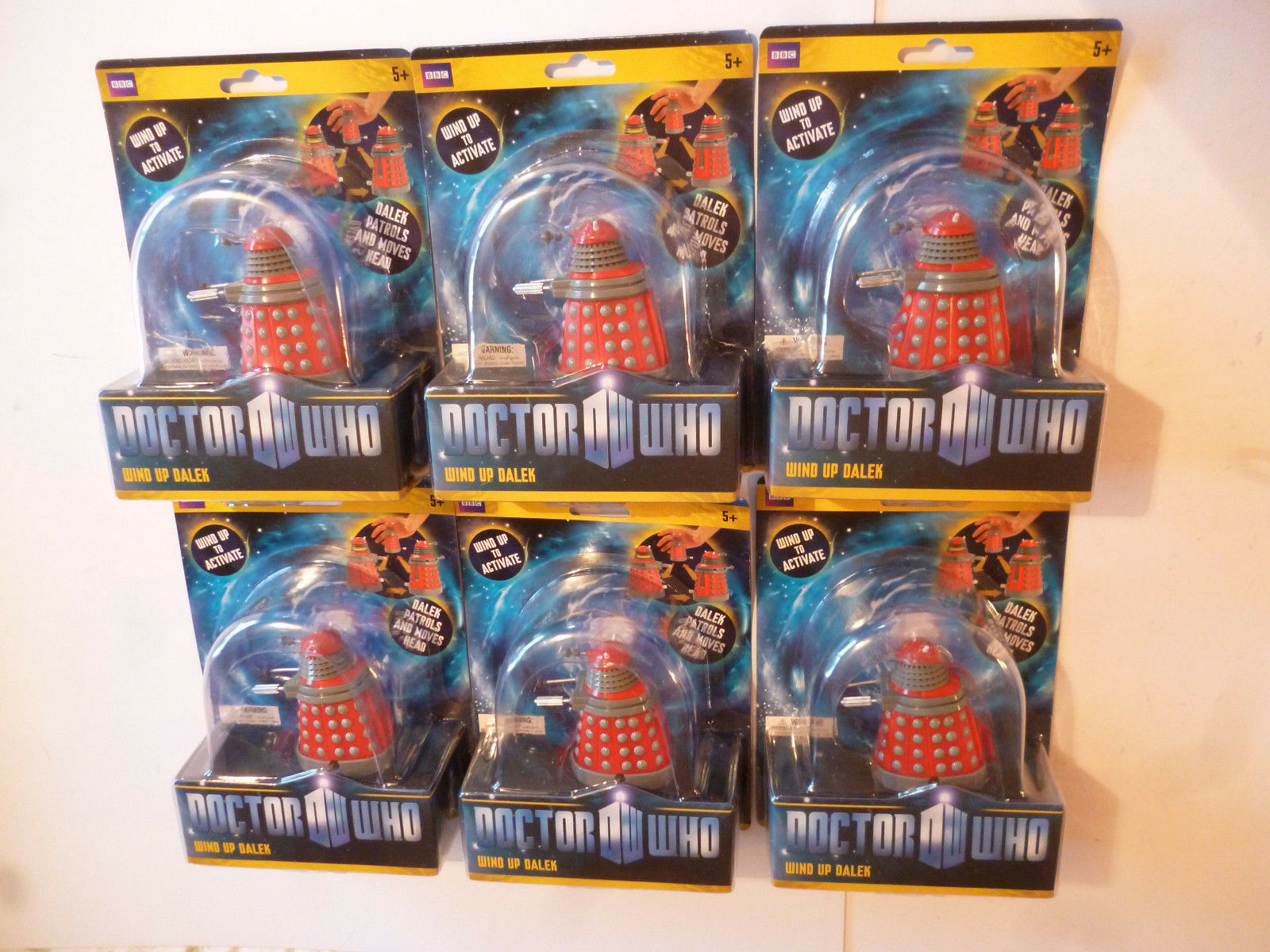 Lot x 6 BBC Doctor Who Wind Up Dalek Action Figure Boxed No Batteries Needed