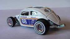 HOT WHEELS 1/64 VOLKSWAGEN BEETLE CUSTOM RACING WHEEL RUBBER TIRES NEW TREASURE