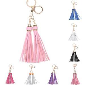 Tassels-PU-Leather-Keyring-Charm-Pendant-Handbag-Key-Ring-Chain-Keyfob-Accessory