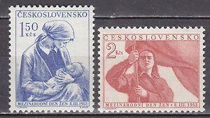 CZECHOSLOVAKIA-1953-MNH-SC-582-583-International-Women-039-s-Day