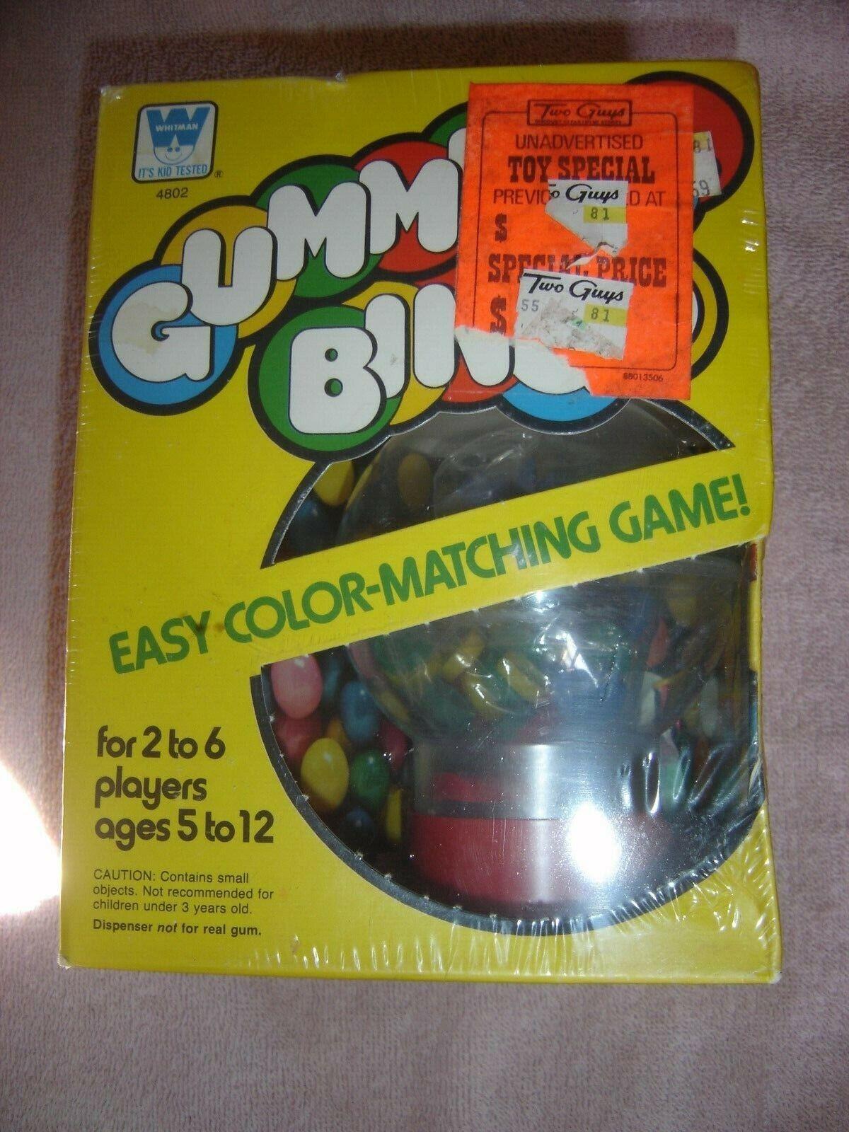 Whitman Western Pub Vtg Sealed 1978 HTF Gummball Gum Ball Bingo Gumball Toy Rare