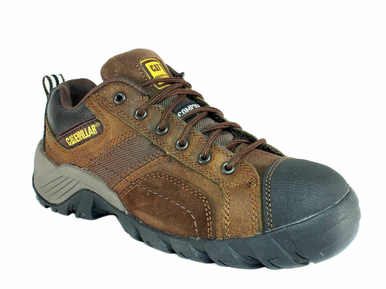Caterpillar Mens ARGON CT OXFORD Comp Toe Work Safety Dark Brown shoes