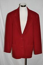 Women's Abercrombie & Fitch Country Clothes Wool Cashmere Red Sport Coat Sz Med