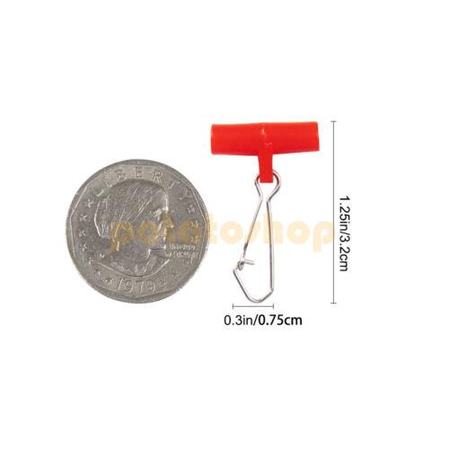 30//100Pcs Fishing Line Sinker Slide W// Duo-lock Snap Size 4~6 77~110 Lb Colorful