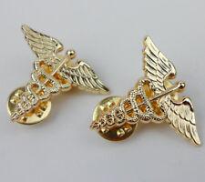 Pair US Army Medical Corps Badge Pin Insignia-0286
