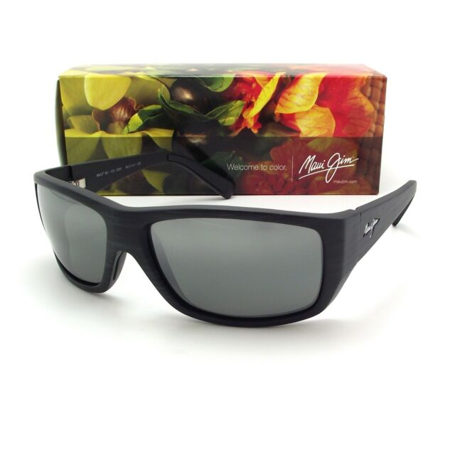 44e9ef25a784 NEW Maui Jim WASSUP Matte Black Wood Grain & Neutral Grey Polarized 123-02W