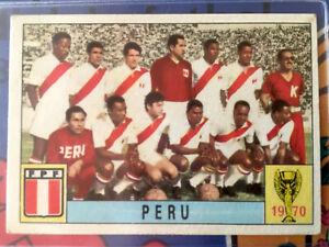 Panini WM Mexico 70 World Cup 1970 - Rare unused cards PERU 100% Original