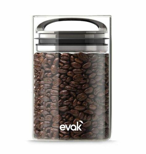 Prepara EVAK Airtight DRY FOOD Storage CONTAINER Glass Silver MEDIUM 709ml