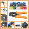 Crimp Tool Kit Ferrule Crimper Plier Wire Stripper w 800 Connector Wire Terminal