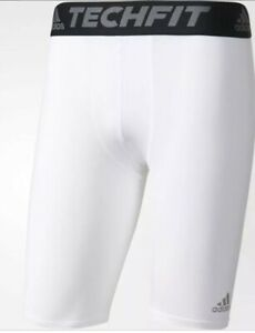 "c3d1698d38090 New Adidas Men's Techfit Base Tight Pant Short 9"" White 4XL 