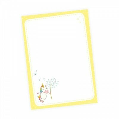 A6 Notizblock Meerjungfrau Seepferdchen blau 50 Blatt to do Liste Einkaufszett