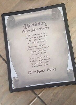 """Jobs Beginning With /""""L/"""" Poem Scroll Gift Personalised Flexible Mousemat"""