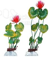 Aquaflora Red Lily Plastic Anchor Aquarium Plant Decoration 8 Or 11