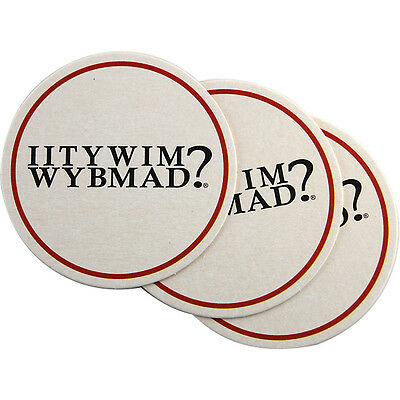 IITYWIMWYBMAD? Coasters - Set of 24 - Funny Bar Drink Novelty Bartender Supplies