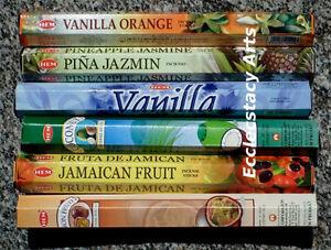 Hem-Tropical-Fruit-Incense-Sampler-6-x-20-Stick-120-Sticks-Fruity-Fragrance-NEW