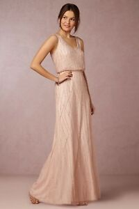 39370ae063 Image is loading Anthropologie-BHLDN-Blush-Pink-Brooklyn-Dress -Adrianna-Papell-