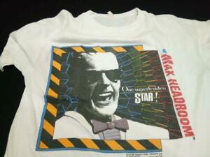 New Max Headroom TV Show Tees Men/'s Black T-shirt Size S-XXXL
