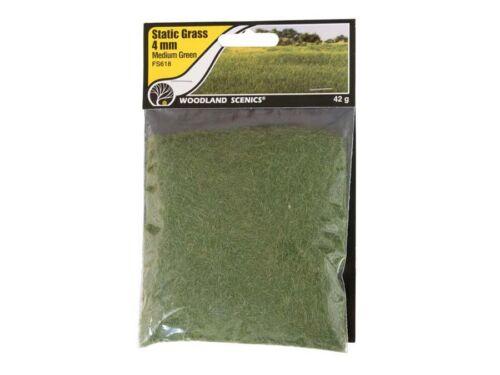 Woodland Scenics fs618 prochaine Herbe 4 mm VERT MOYEN