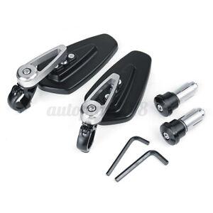 7-8-034-22mm-Coppia-Specchietti-Retrovisori-Alluminio-Specchi-Regolabile-Argento