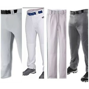 Details about Men's Baseball Pants White Gray Graphite Navy Green Pipe Medium Large XL Rawling