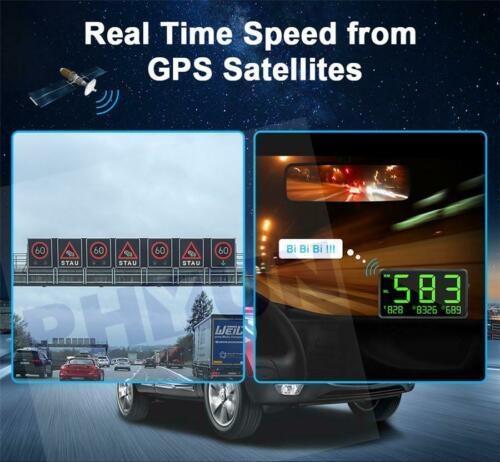 Universal Digital Car GPS Speedometer Speed Display KM//h MPH For Bike Motorcycle