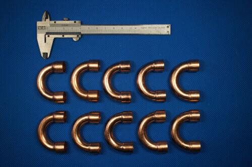 "HVAC Copper Fitting CxC 180° U-bend elbow 1//2/"" Flaring ID 12.7mm"