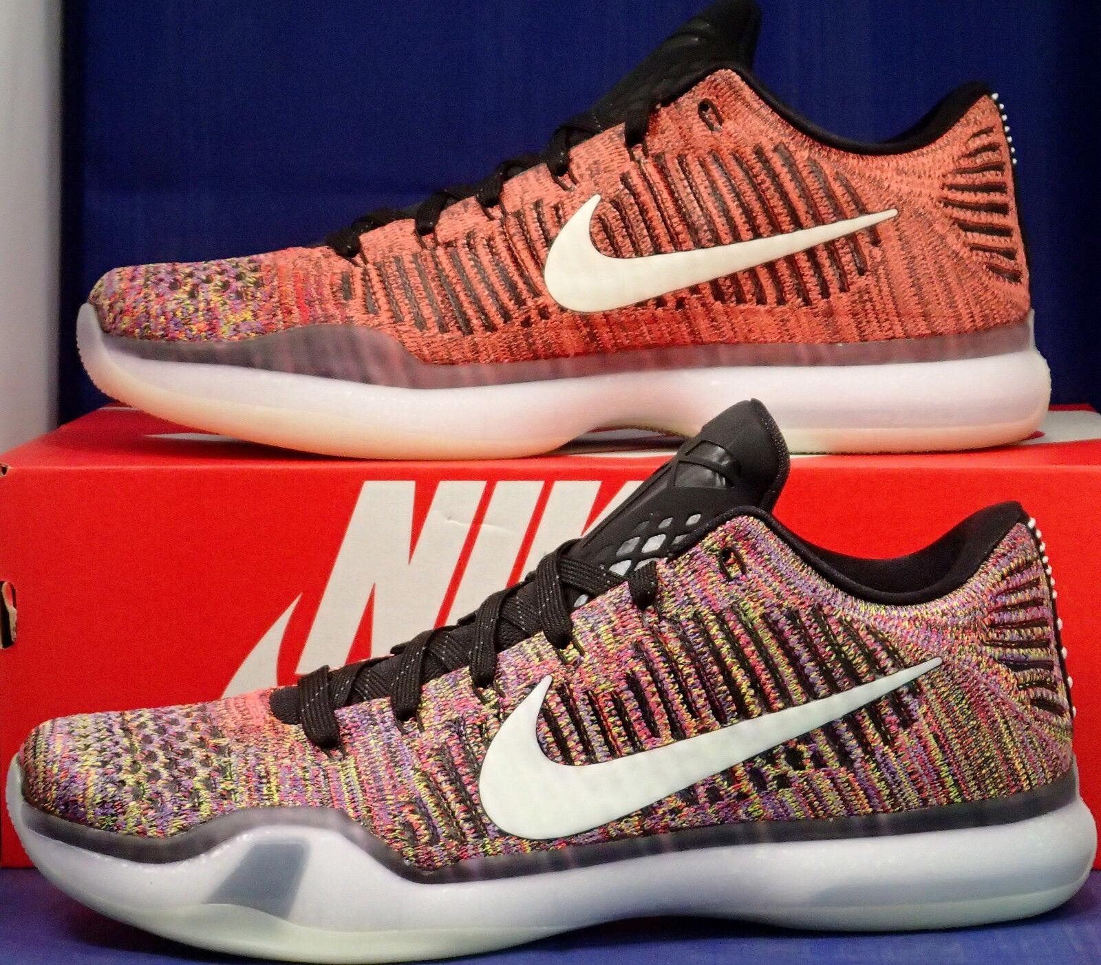Nike Kobe X 10 Elite Low Flyknit Multicolor GID 2.0 QS iD SZ 10 ( 802817-903 )