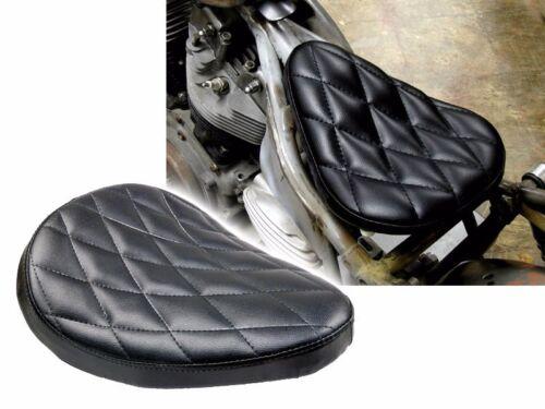 Black Diamond Solo Driver Stitch Seat for Harley Bobber Chopper Custom