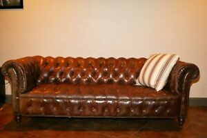 Ralph Lauren Tufted Leather Chesterfield Sofa Best House Interior