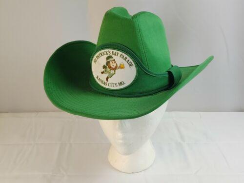 Vtg GA Brand Western Cowboy Hat Green Size S 6 3/4