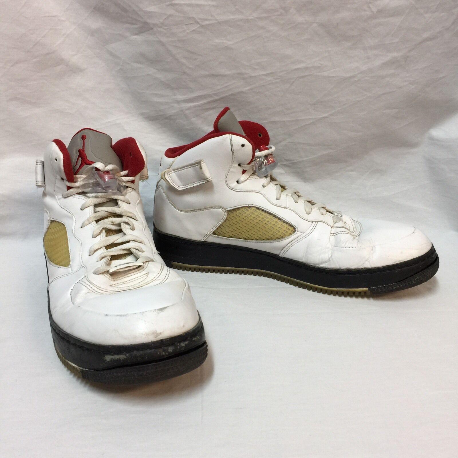 Nike - schuhe 318608-161 air jordan - fusion weiße uni rot - jordan schwarz größe 14 ajf 5 27410b