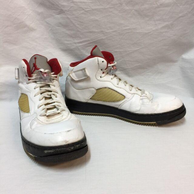 2f1e7f4f6265dc Nike Shoes 318608-161 Air Jordan Fusion White Varsity Red Black Size 14 AJF  5 for sale online