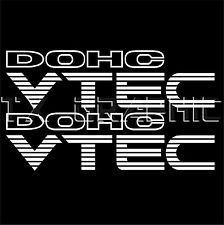"""Civic Accord  DOHC VTEC  DECAL STICKER VEHICLE GRAPHIC 1 SET OF 2, 11"""" x 3"""""""